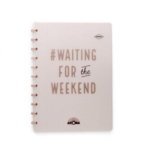 Caderno Atoma Happy 70 A4 Branco Pautado - Bronze Weekend