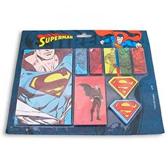 Set Bloco de Notas com Adesivo DC All Kinds of Superman