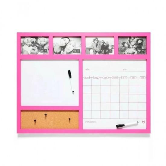 Painel Porta Retrato Calendário Rosa