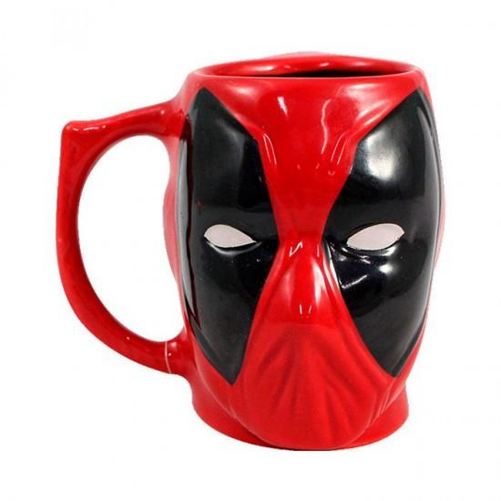 Caneca Formato 3D 400ml Deadpool