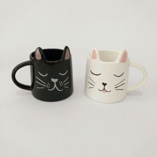 CANECA BLACK & WHITE CAT