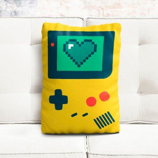 Almofada Formato Gameboy Love