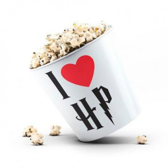 Balde de Pipoca I Love HP - Branco