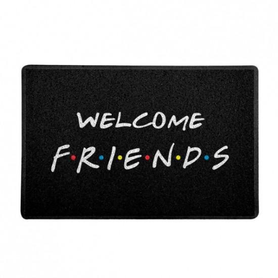 Capacho Welcome Friends Preto