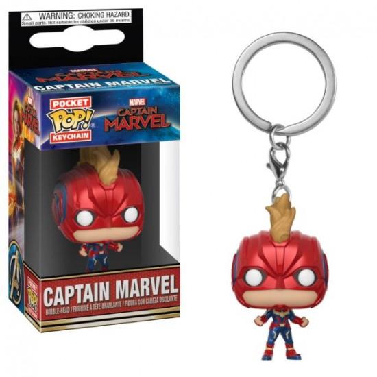 Chaveiro Funko POP - Captain Marvel (Helmeted)