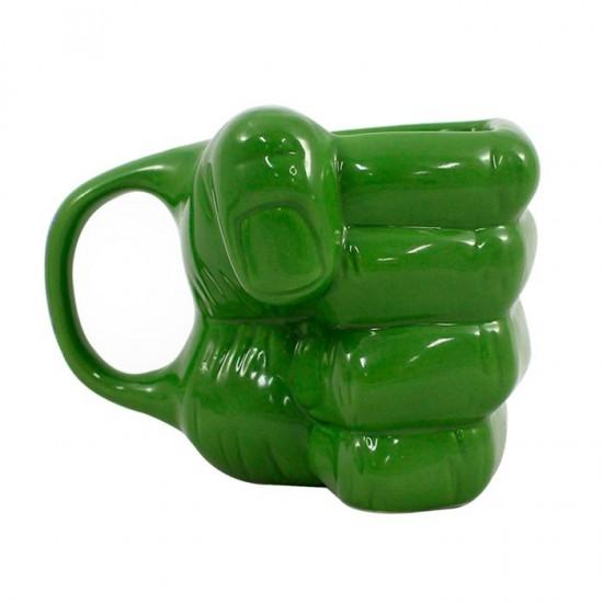 Caneca Formato 3D 350ml Mão do Hulk