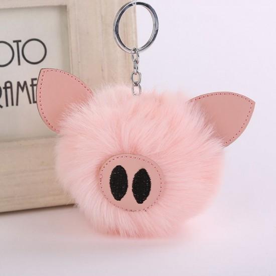 Chaveiro Pompom - Porco