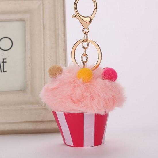 Chaveiro Pompom - Cupcake