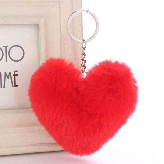 Chaveiro Pompom - Coração