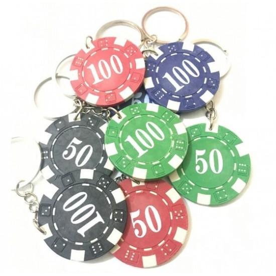 Chaveiro Ficha de Poker
