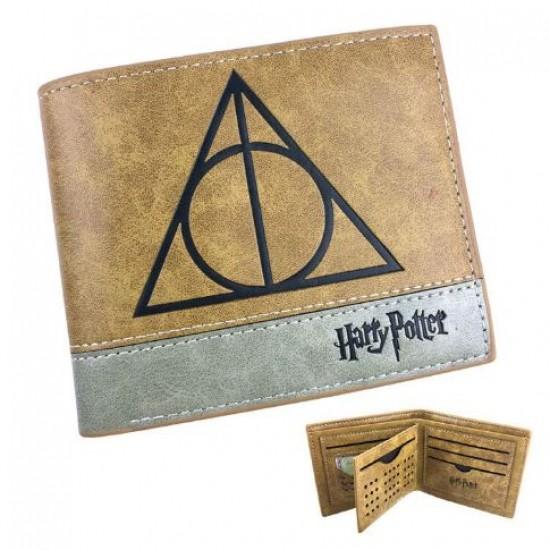 Carteira Harry Potter Deathly Hallows - Couro
