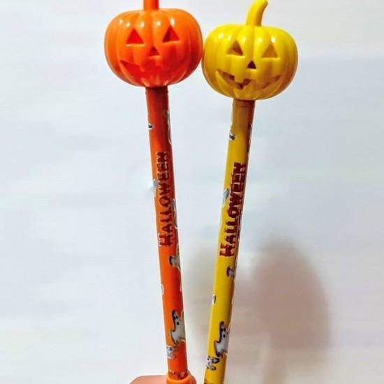 Caneta Abóbora Halloween c/ LED