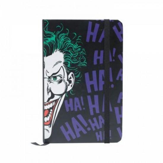 Caderneta de Anotação Joker Face Preto A6