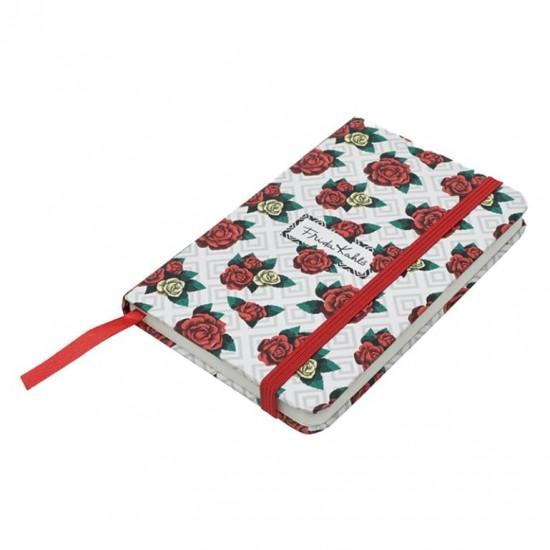 Caderneta de Anotação Frida Geometric Roses Colorido A6