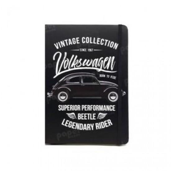 Caderneta de Anotação VW Fusca Preto A5