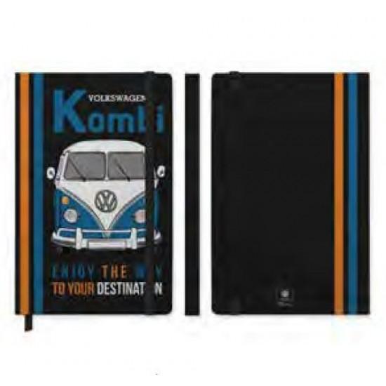 Caderneta de Anotação VW Kombi Enjoy The Way Preto A5