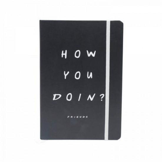 Caderneta de Anotação Friends Preto A5