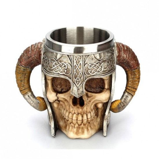 Caneca Caveira Viking - Chifres