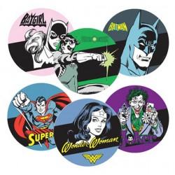 Set c/ 6 Porta Copos MDF Heroes Signs DC Colorido